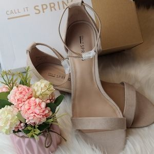 CALL IT SPRING BOREWIEL SUEDE ANKLE STRAP SANDAL
